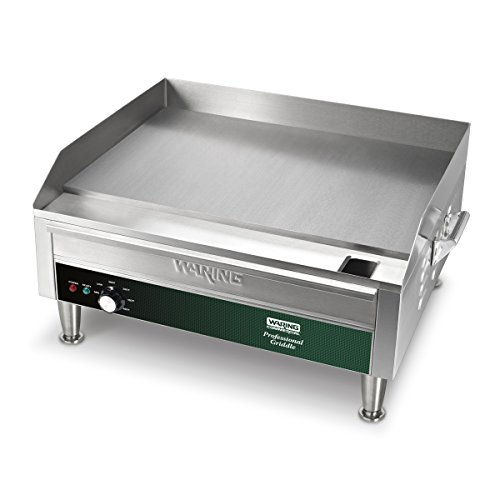Waring Commercial Electric Countertop Commercial Griddle, 25.5x28.75x14.125, Stainless Steel