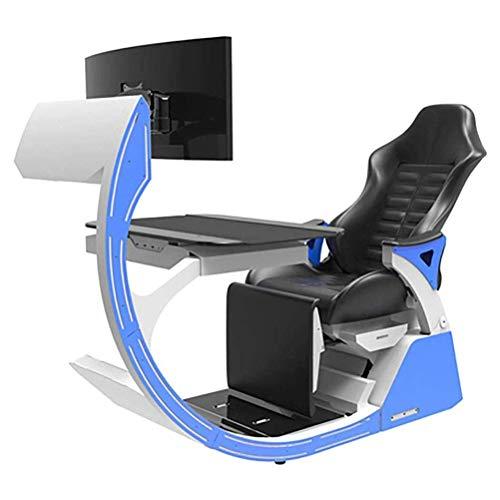 Ergonomischer Stuhl Videospielstühle Gaming Chair Ergonomischer Computer Cockpit Happy-Chair-Esports-Stuhl Mit Bequemem Hals Und Lumbaler Wirbelsäule Ermüdend