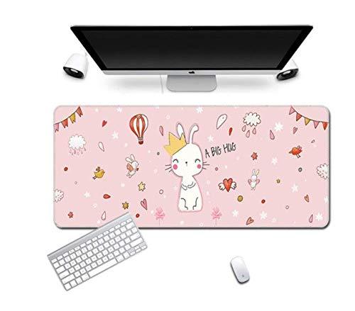 Cute Mouse Pad Comtuper Desk Mat Large XXL Mousepad Kawaii Gaming Accessoroes Laptop Gamer Keyboard MacBook Waterproof Maus Mat - 2,900 x 400 x 2 mm