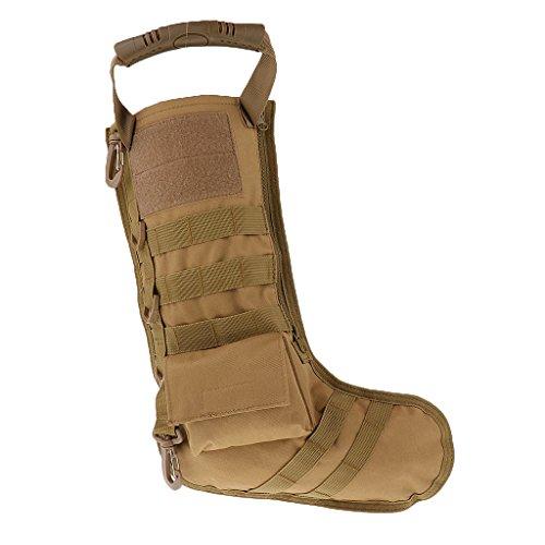 Easyinsmile Tactical Christmas Stocking Bag Military Ammo Bullet EDC Pouch Dump Drop Magazine Storage Bag (Khaki)