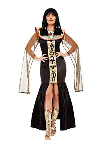 Smiffys Egyptian Goddess Costume Disfraz de diosa egipcia, color negro, S-UK Size 08-10 (70026S)