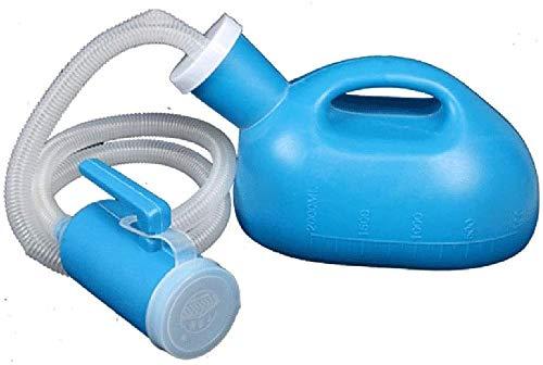 Urinal Botella de orina portátil Hombres portátiles y mujeres Urinal de almacenamiento de orinales con cobertura Urinal a prueba de fugas - 2000ml Camping del viaje del automóvil, Botella de orina