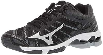 Mizuno Women's Wave Voltage Volleyball Shoe, blacksilver, 7.5 B US