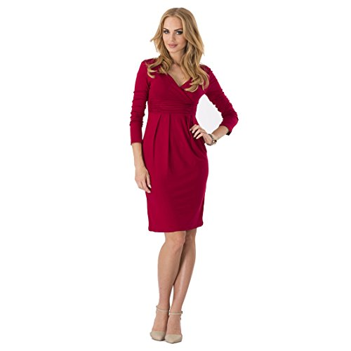 Comfydot Women's V-Neck Sheath Knee-Length Casual Party Work Wrap Dress Comfy...  来自 @amazon