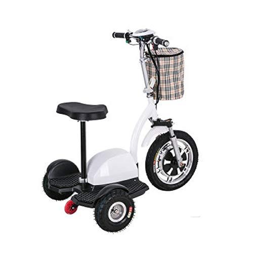 ZYLZL Bicicleta Eléctrica Scooter Scooter de Edad Avanzada Mini Triciclo Adulto Batería de Litio 48V Plegable Medios de Transporte/C / 105x73x130 cm
