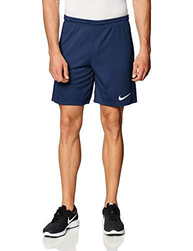 Nike Dri-FIT Park 3 Short De Football Homme, Bleu (Minuit Marine/Blanc), M