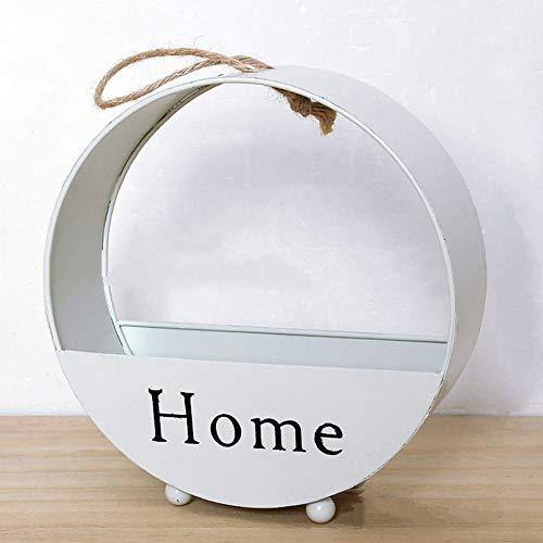 Eenvoudig ontwerp van ijzer, bloempot om op te hangen, balkon, tuinplant, beginners, tafel, decoratie, wit