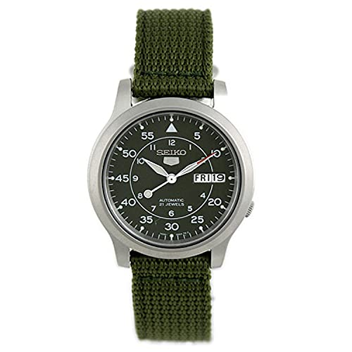 SEIKO Men's SNK805 SEIKO 5 Automatic Stainless Steel Watch with Green Canvas