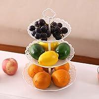 3層 ケーキスタンド フルーツプレート プラスチック 手提げでき 多種の使い方 結婚式 ホーム パーティー 誕生日 西洋風