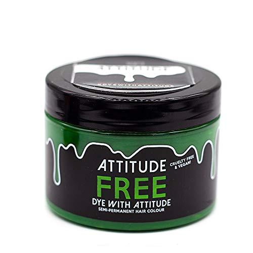 Attitude Haarfärbemittel - Semipermanenter Haarfarbstoff - mit Conditioner und Vegan - Farbe Free UV Grün