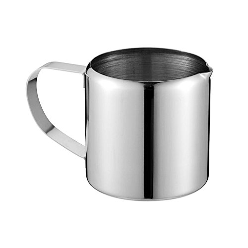 LOVIVER Edelstahl Milch Aufschäumende Krug, Perfekt Für Espressomaschinen - 2 Unzen
