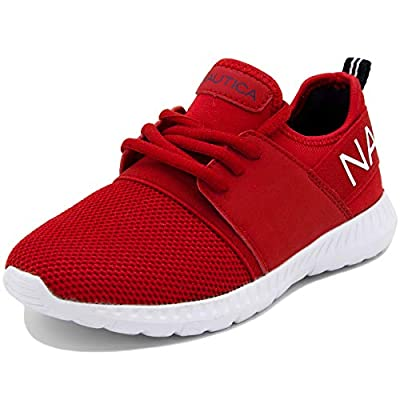 Nautica Kids Boys Lace Up Sneaker Comfortable Running Shoes -Kappil Youth-Bright Red-5
