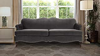 Jennifer Taylor Home Legacy Camelback Sofa Nail head Accents, Dark Charcoal Grey (B01MY33200) | Amazon price tracker / tracking, Amazon price history charts, Amazon price watches, Amazon price drop alerts