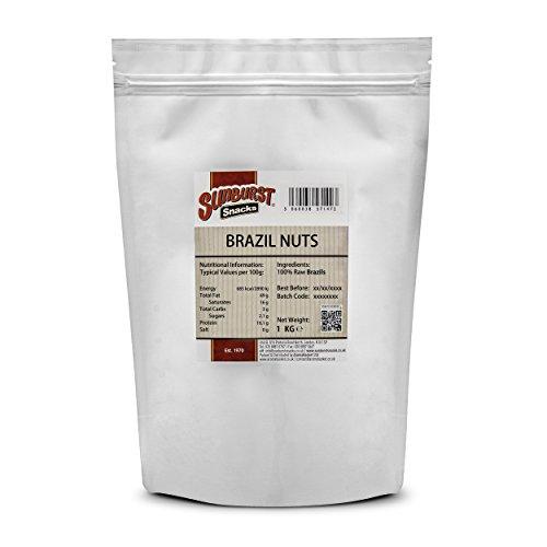 Sunburst Las nueces de Brasil crudo, entero y fresco, no gmo, 500 G