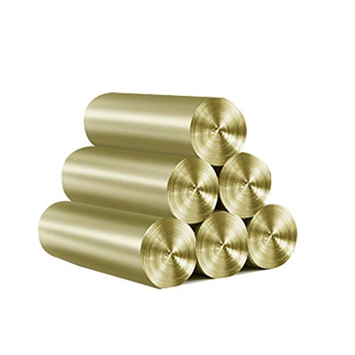 Fablcrew Müllsäcke Müllbeuteln Haushaltsküche Mülleimer Tasche Plastiktüte 45cm*55cm 6er Pack (1 x 6 Rollen) Gold