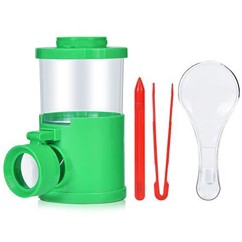 Demeras Insekt Viewer Mikroskop Kinder Puzzle Spielzeug Home Reisen Wissenschaftliche Erforschung Lehre(Green)