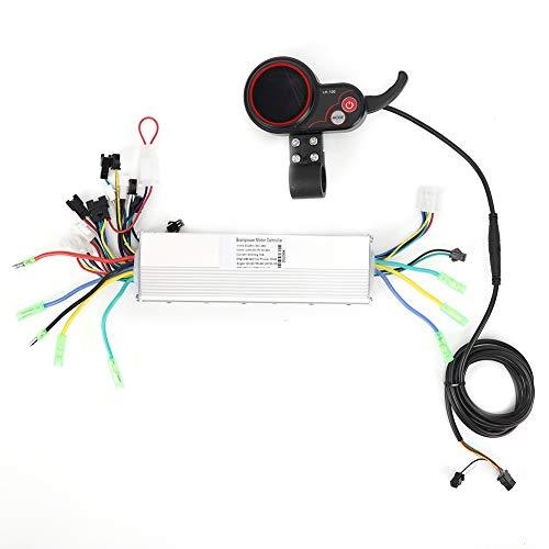Growcolor Juego de Controlador de Instrumentos LCD, Instrumento de Scooter eléctrico, Bicicleta de montaña eléctrica, 24 V, 36 V, 48 V, LCD, Controlador de Pantalla Colorida