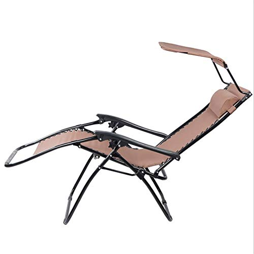 NBVCX Piezas mecánicas Sillas Plegables Silla de Ocio al Aire Libre con Parasol Tapa Tubo Silla Plegable Silla reclinable Silla de Playa Silla de Playa Plegable al Aire Libre Fácil de Guardar
