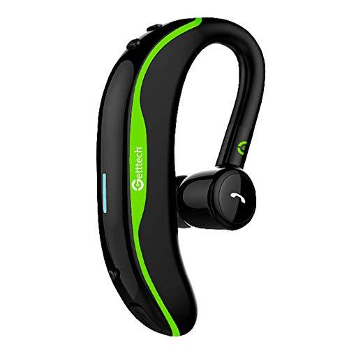 Auriculares de Clip Manos Libres Getttech Intune GAI-29901V, Bluetooth, inalambrico, con microfono, Verde (GAI-29901V)