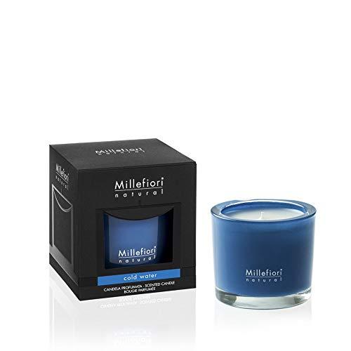 Millefiori Milano - Vela perfumada, colección Natural, Cold Water, 180 g