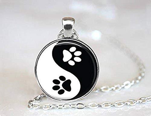 Beautiful Dandelion Hermoso Colgante con Diseño de Perro y Gato de León Yin Yang