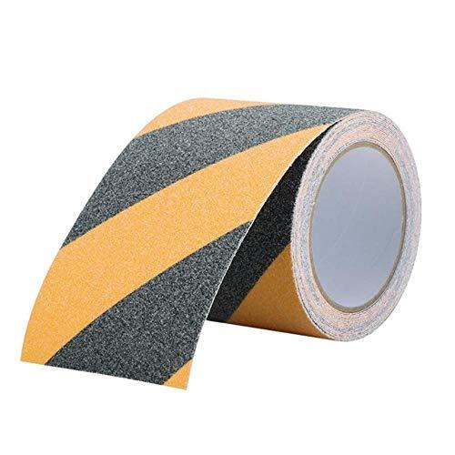 1 ST PVC Frosted Surface Antislip Tape Glow in Dark Grip Tractietape Schurende Trappen Loopvlak Stap Veiligheidstape 5cm * 5M 5cm * 3M, zwart en geel