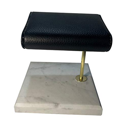 Hellery Base de mármol Reloj Organizador Reloj Soporte Pulseras Almacenamiento Organizador Rack Uso Personal para la Parte de la vanidad - Blanco S