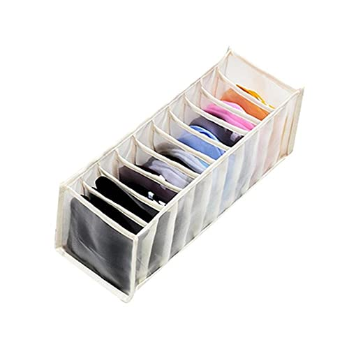 Ropa interior plegable Cajón de tela de almacenamiento Bolsa de almacenamiento Armario de dormitorio Calcetines independientes para el hogar Cajas de almacenamiento-beige 11 rejillas