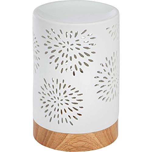 ONVAYA® Duftlampe | Elektrisch | Farbe: Creme weiß | Aroma Diffuser | Aromalampe | Duftstövchen | Modernes Duftlicht (Bianca)