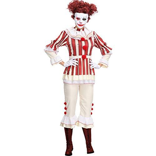 NWFS Novelty Clown Kostuum Volwassen Meisje Tops Broek en Handschoenen Cosplay Clown Carnaval Party Womens Stage Performance Perfect Kostuums