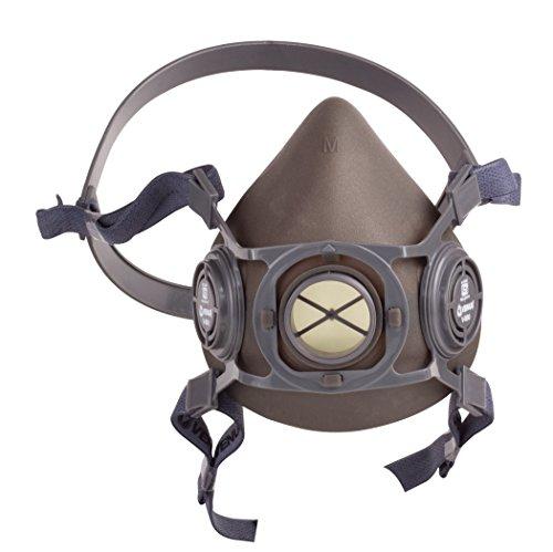 Venus Microfibre V-500+7500 A1E1 P1S Half Face Mask And Organic Vapor/Acid Gas Cartridge, Black