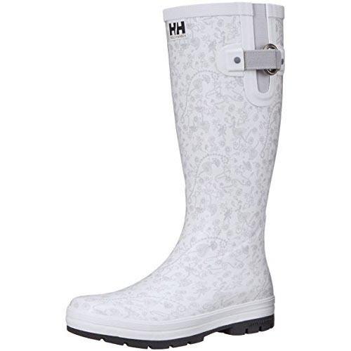 Helly Hansen Women's Veierland 2 Graphic Rain Boots, Light Grey De Blanc/Ebony, 9