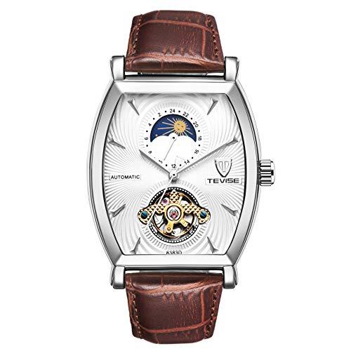 HWCOO Bellissimo orologio da polso TEVISE / 8383D orologio da uomo meccanico automatico in pelle con orologio da uomo (Color : 1)