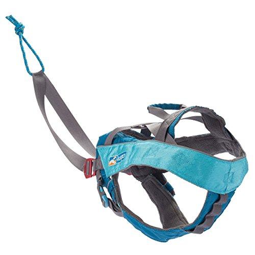 Kurgo Long Haul Joring Canicross Hundegeschirr, für Canicross, Skijoring & Bikejoring (groß), Coastal Blue, Modell: K01833