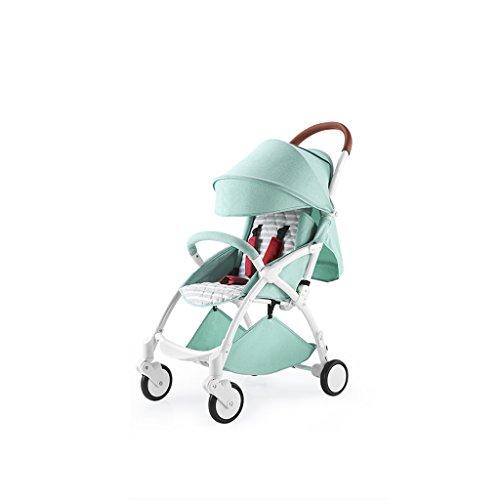 XXW Cochecito De Bebé Aleación de Aluminio 4 Ruedas Cojín de bebé Absorbente de Golpes Portátil Plegable Recién Nacido Paraguas Cochecito Sillas de Paseo Carro
