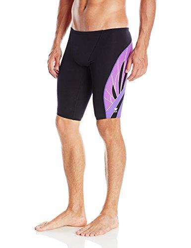 TYR Sport Phoenix Splice Jammer - Bañador para Hombre, Otoño - Invierno, Hombre, Color Negro/Violeta, tamaño 26