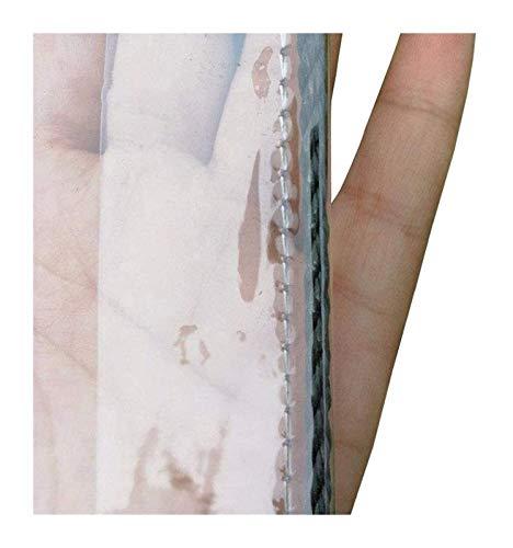 Glass Clear Tarpaulin Waterproof Tarpaulin PVC Soft Glass Dustproof, Waterproof And Anti-aging Camping Fishing Garden Plant Tarpaulin (Size : 2mx4m)