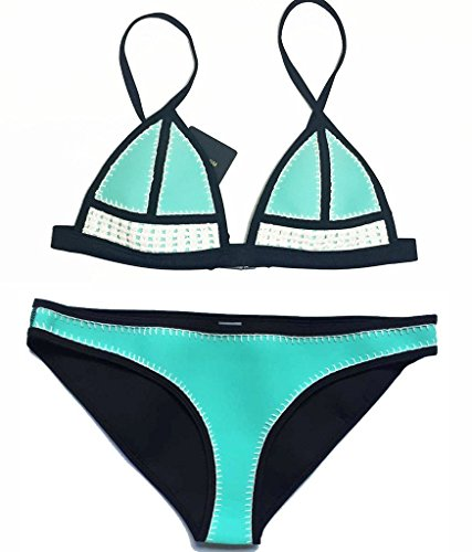 floravogue Farrah manta de punto de ganchillo Bikini Triángulo Traje De Neopreno Con Soporte