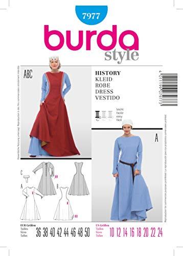 Burda Schnittmuster 7977 History Kleid,Robe,Vestido Gr. 36-50