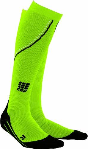 CEP Damen Strumpf Pro+ Night Run Socks, Neon Green, IV, WP41N34
