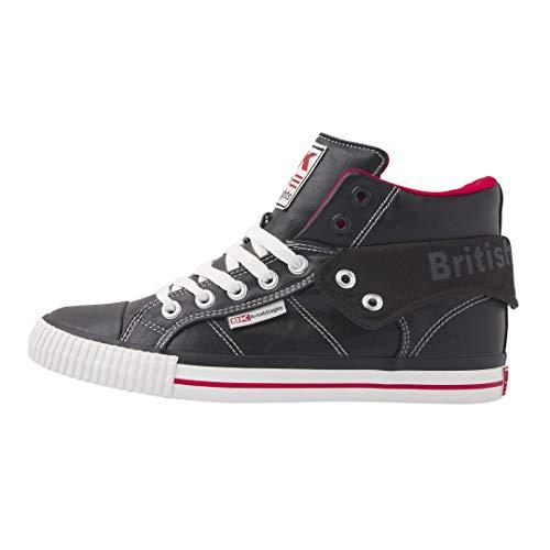 British Knights Herren ROCO Sneaker, Black Red, 43 EU