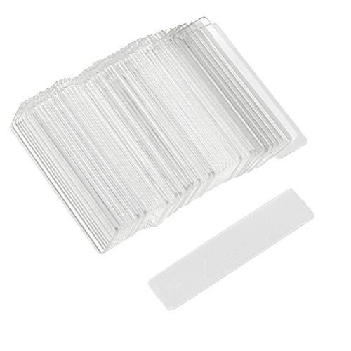 Lurrose 100pcs ongles supports en plastique transparent affichage planche à clous conseils conseils stand ongles formation rack outil manucure ongles accessoire pour femmes filles ladeis