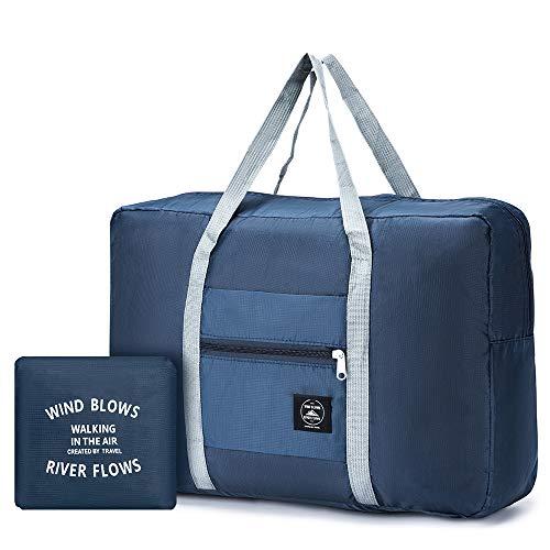 SPAHER Foldable Reisetaschen Duffle Bag 30L Ultra Leichtgewichtig Faltbar Packbar wasserdichte Gepäck Handtasche Schulter Organizer Aufbewahrung Tragen Tasche Handgepäck Für Shopping Sport Camping