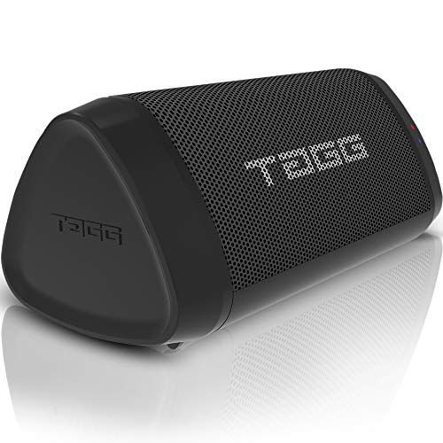TAGG Metal Sonic Angle 1 IPX5 Water Resistant Portable Bluetooth 2 x 5W Speakers with Mic, 3.5mm AUX Support and...