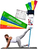 Fitnessbänder Set 4-Stärken by ActiveVikings - Ideal für Muskelaufbau Physiotherapie Pilates Yoga...
