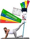 Fitnessbänder Set 4-Stärken by ActiveVikings - Ideal für Muskelaufbau Physiotherapie Pilates Yoga Gymnastik und Crossfit - Fitnessband Gymnastikband Widerstandsbänder