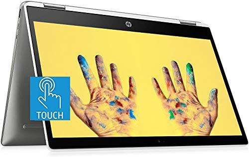 Flagship HP X360 Chromebook 2-in-1 Laptop, 14' Full HD IPS Touchscreen Display, Intel Quad-Core Pentium Silver Processor, 4GB DDR4 64GB eMMC SSD, Webcam 100GB Google One, WiFi BT USB-C B&O Chrome OS