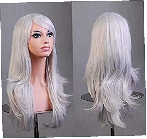 Pruik Hoge Temperatuur Draad Artifitial Haar voor Halloween Kerstjurk Cosplay Zilver Grijze 1pc Haarstyling Accessoires