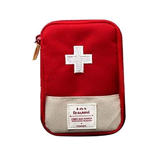 KOPOU Mini Bolsa de Kit de Medicina de Viaje Organizador Portátil de Medicina Caja de Kit de Primeros Auxilios para El Hogar/Coche/Oficina/Viaje Caja Pequeña de Medicina