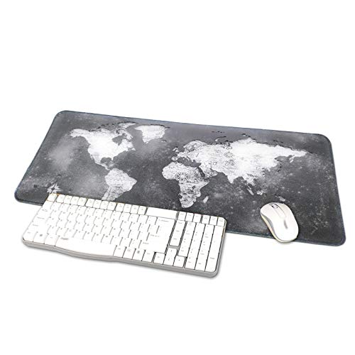 TRIPRO World Map Design Large Gaming Mouse Pad XXXL Extended Keyboard Mat Desk Pad Big Mousepad,Size 31.5'x11.8',Water-Resistant,Non-Slip Base (NO.1)